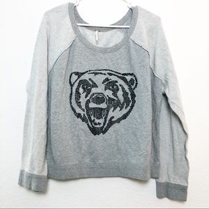 Free People | Big Bad Varsity Bear Sweatshirt
